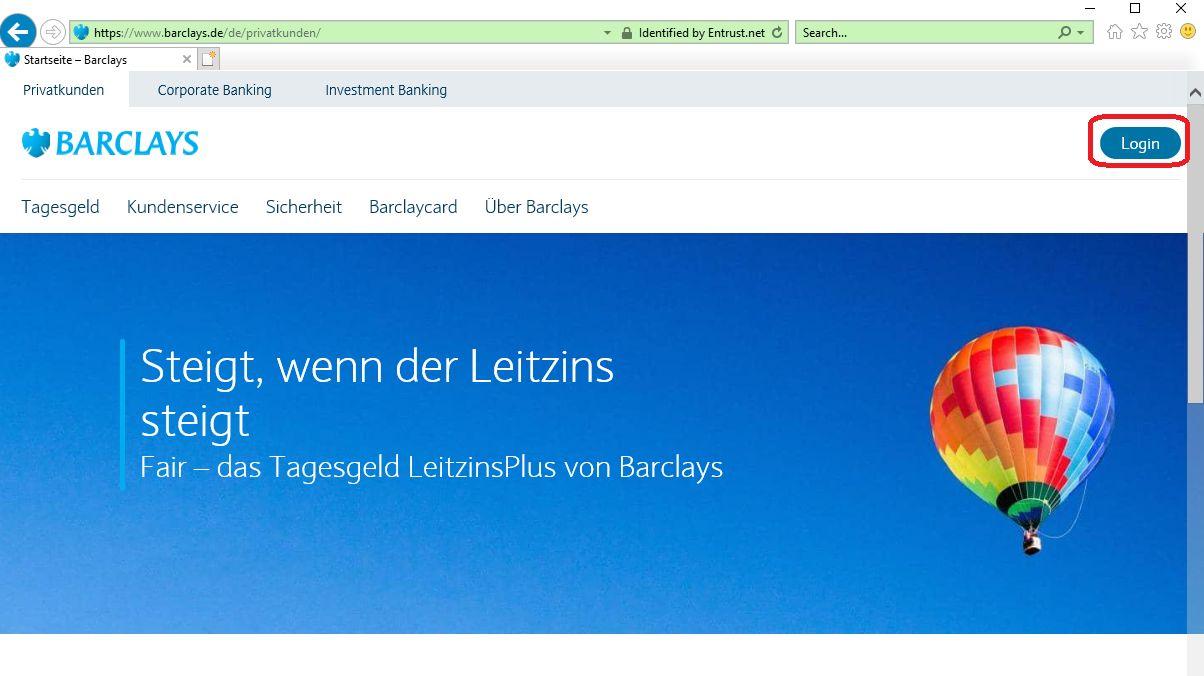 barclays deutschland online banken konto login