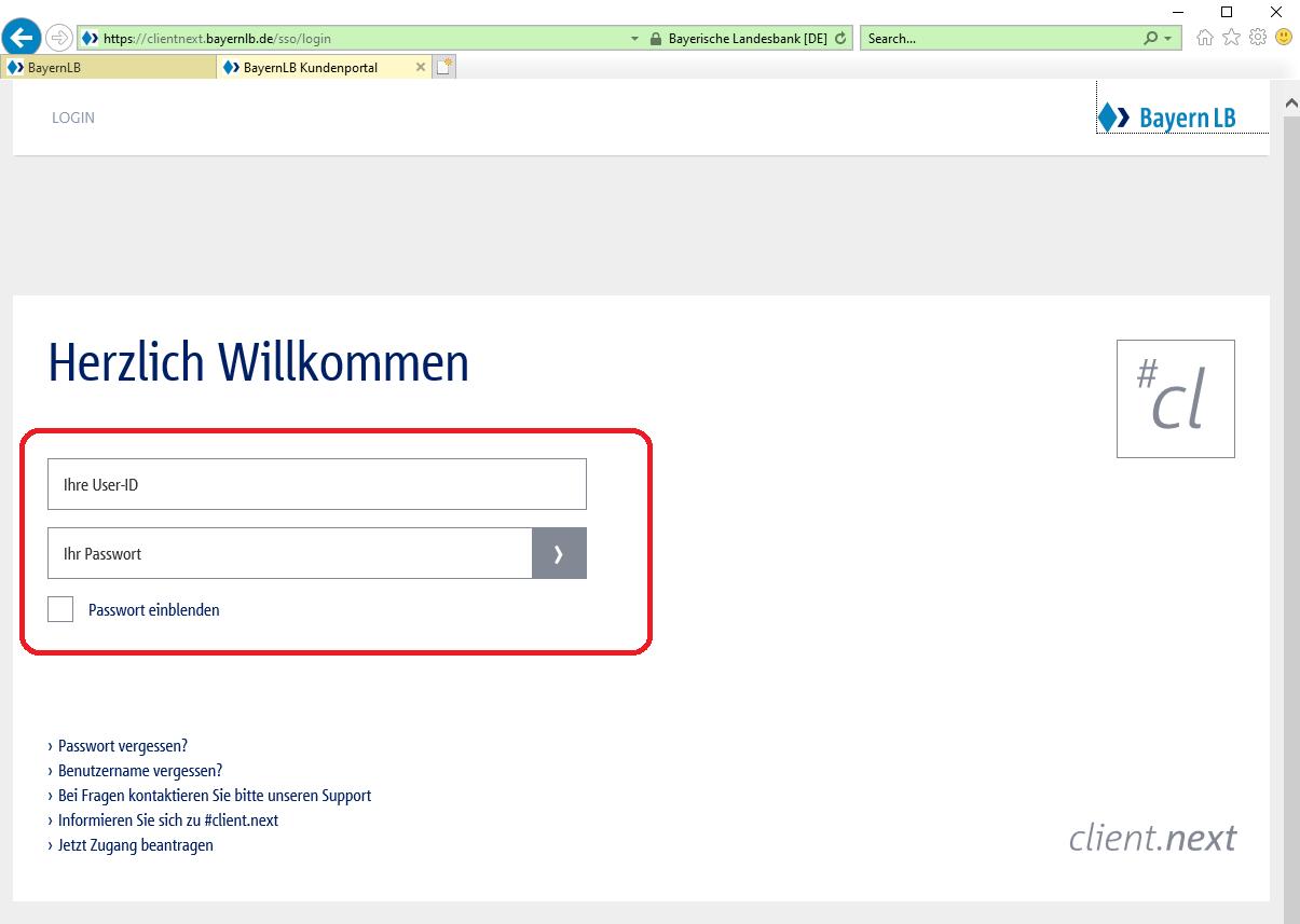 bayernlb online banken konto login 2