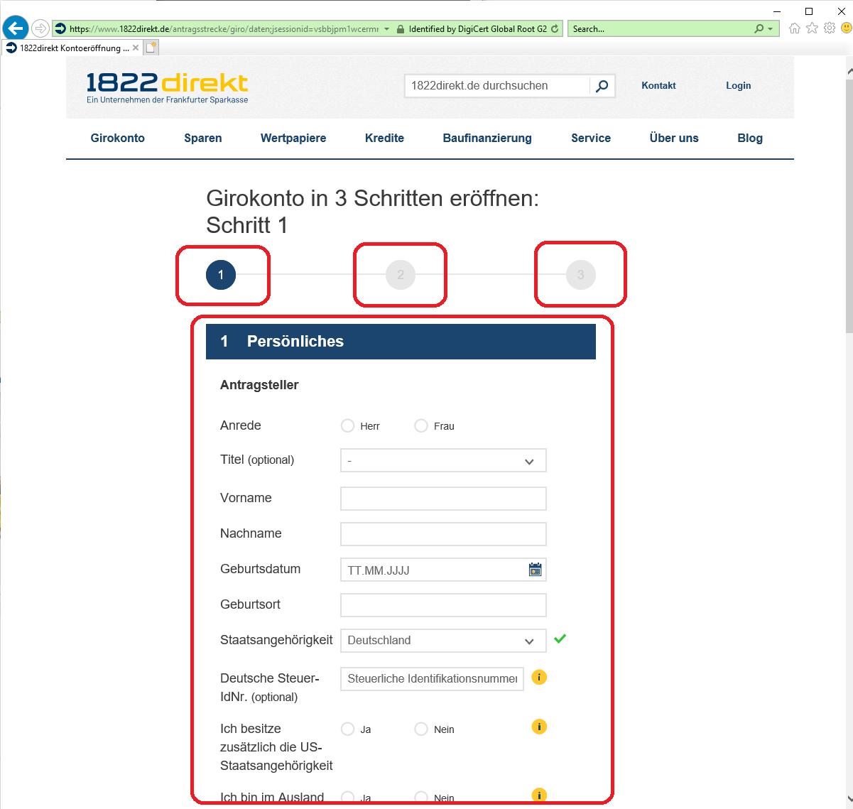 1882direkt online banken konto eroeffnen 2