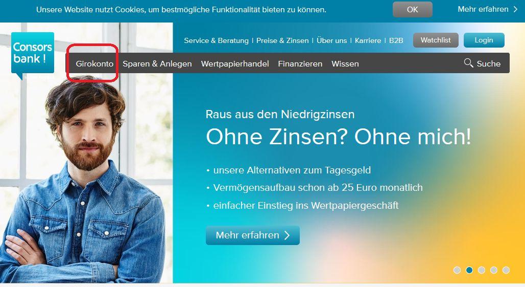 consorsbank online banken konto eroeffnen