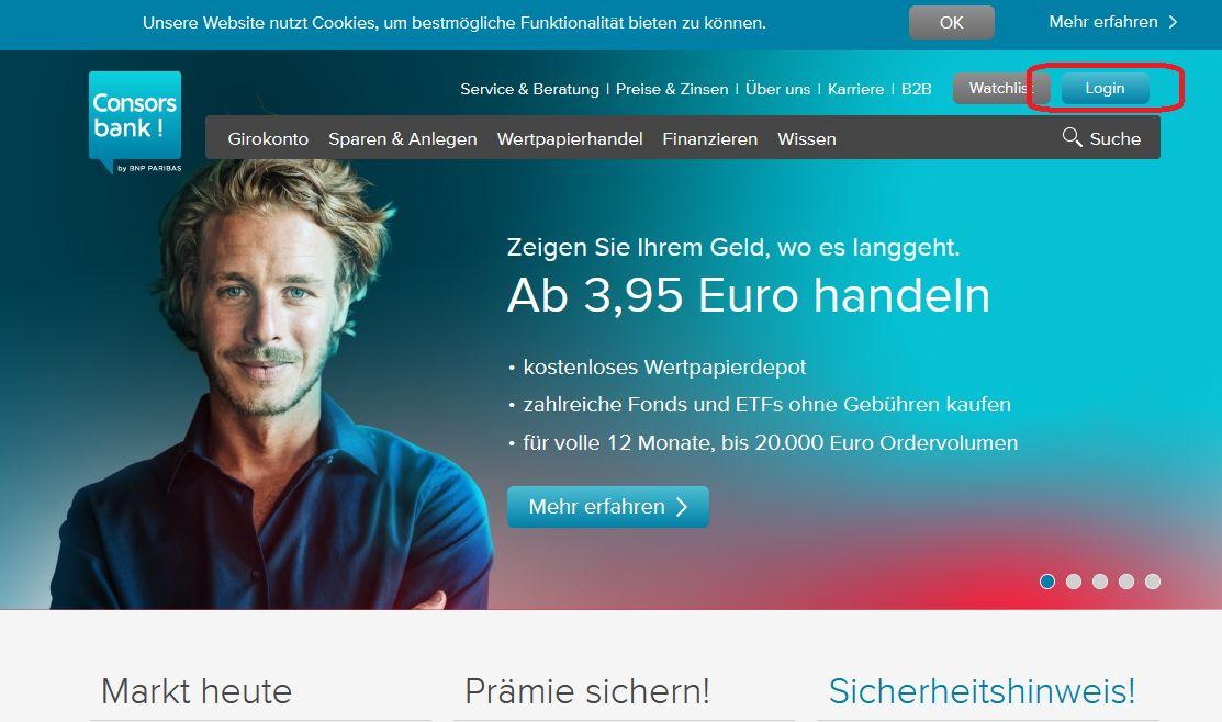 consorsbank online banken konto login