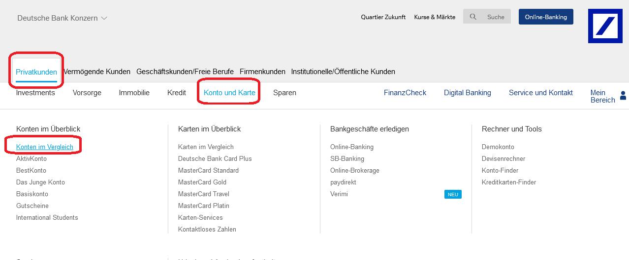 deutsche bank online banken konto eroeffnen